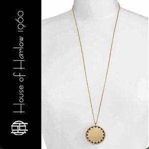 House of Harlow Incan Sun Coin Pendant Necklace